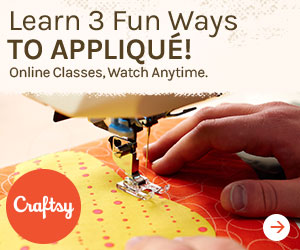 Learn 3 fun ways to appliqué on Craftsy!