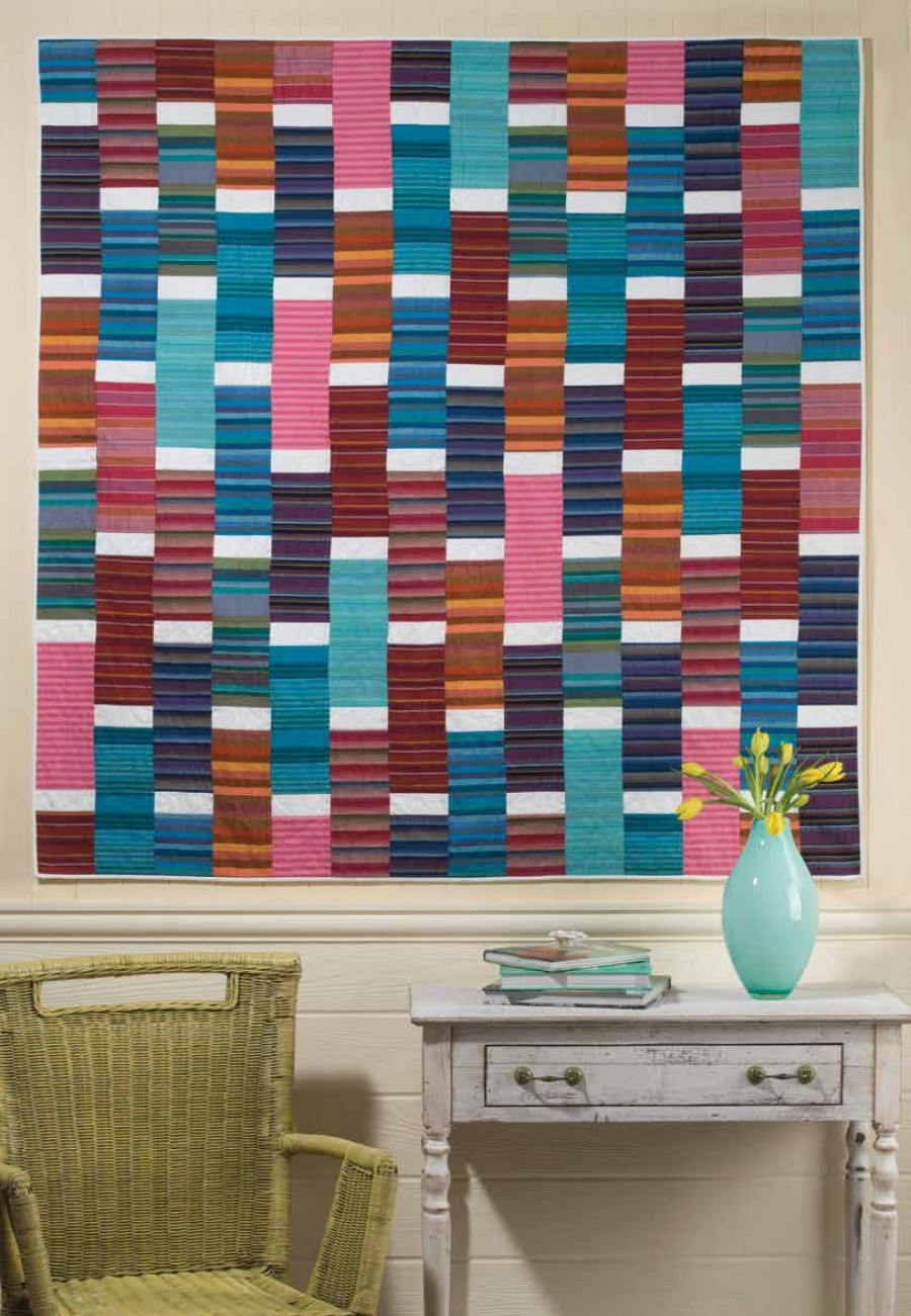 Striped Bricks Quilt