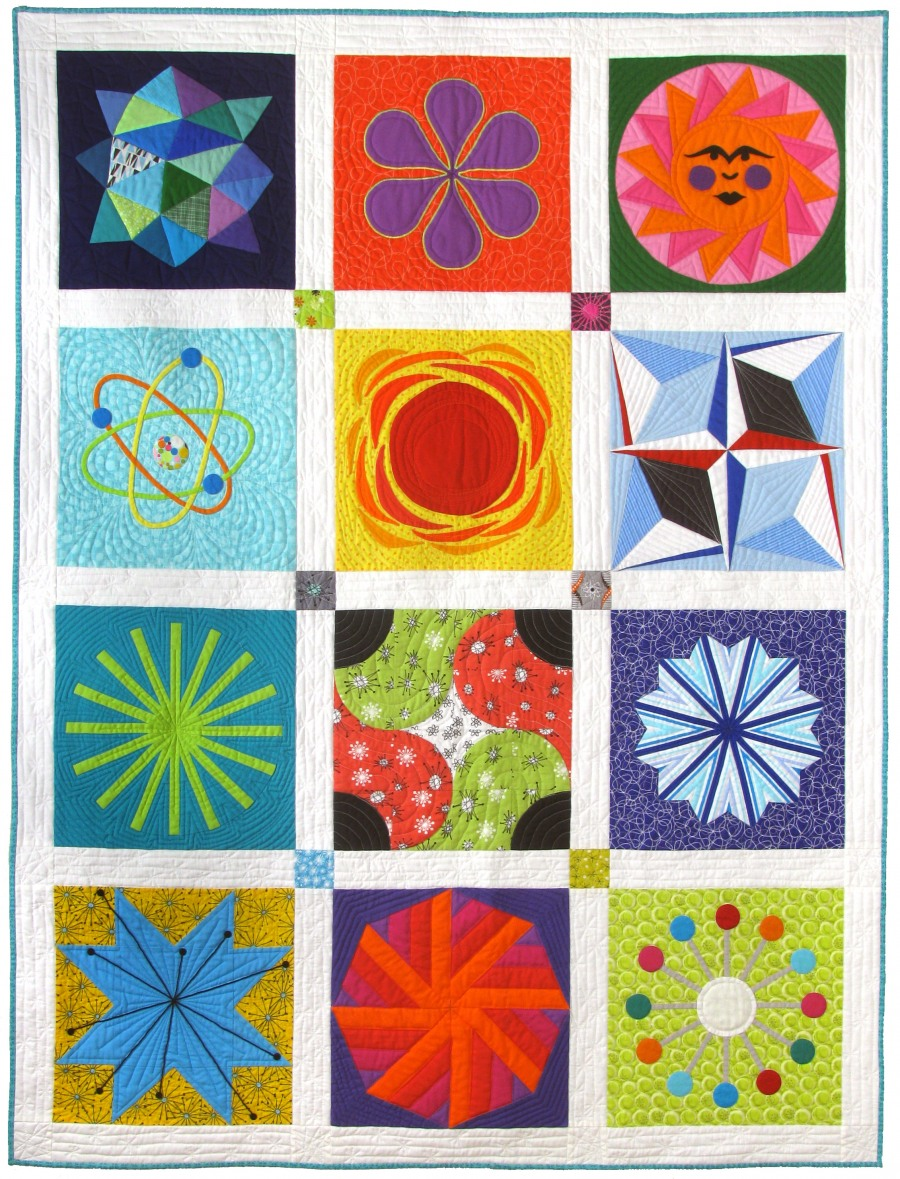 Atomic Starburst Sampler quilt