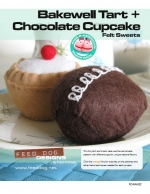 Felt Sweets Pattern: Bakewell Tart + Chocolate Cupcake