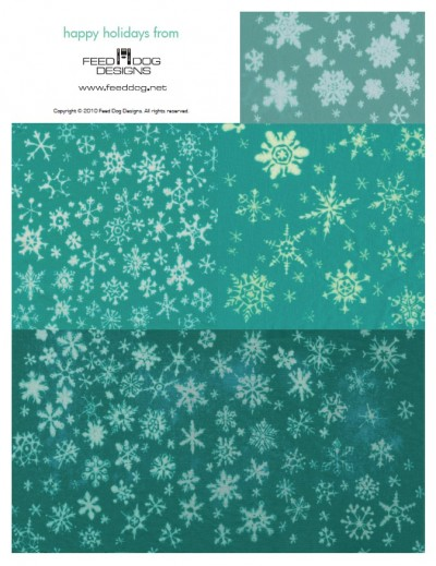 Printable Snowflake Fabric